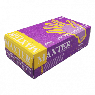 Ръкавици латекс без пудра MAXTER