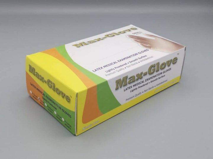 Ръкавици латекс с пудра MAX-GLOVE