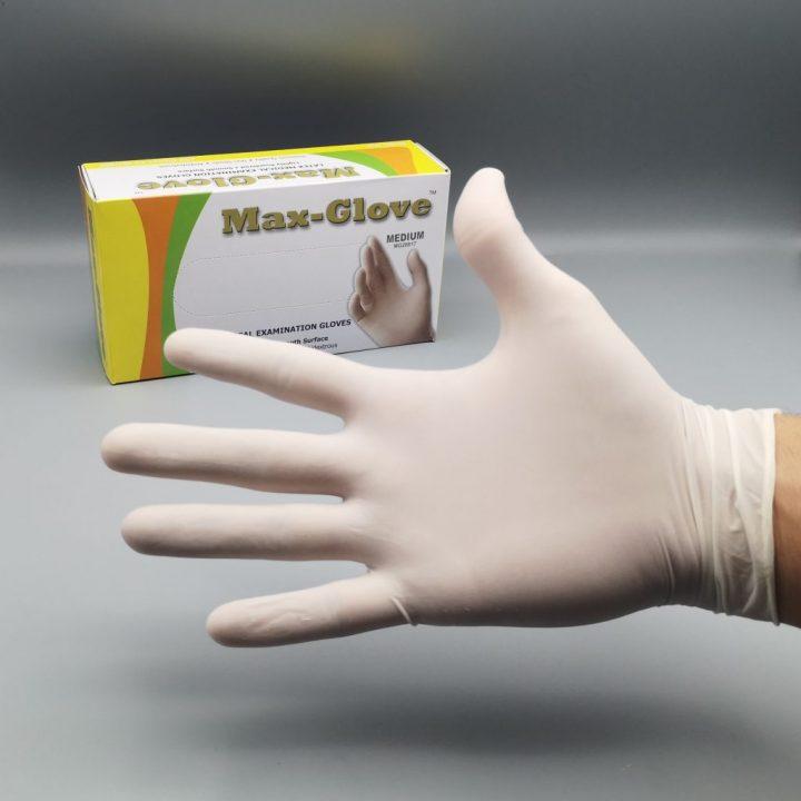 Латексови ръкавици MAX-GLOVE с пудра